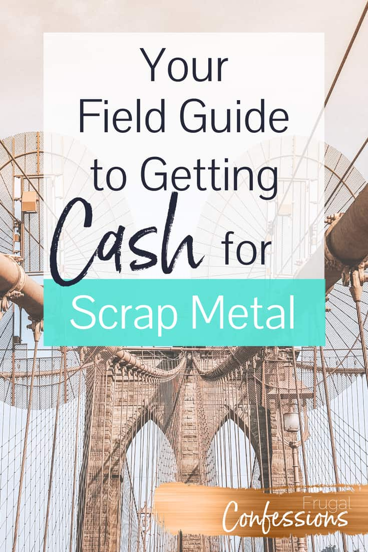 "scrap metal large bridge with text overlay ""your field guide to getting cash for scrap metal"""
