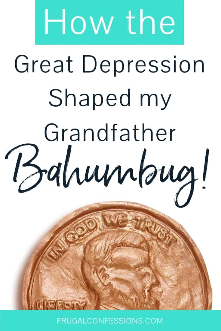 Great depression survival stories – how my grandfather turned into a miser after the childhood he lived during the Great Depression. Talk about self sufficient living + extreme frugality. #savemoney #survival #skills