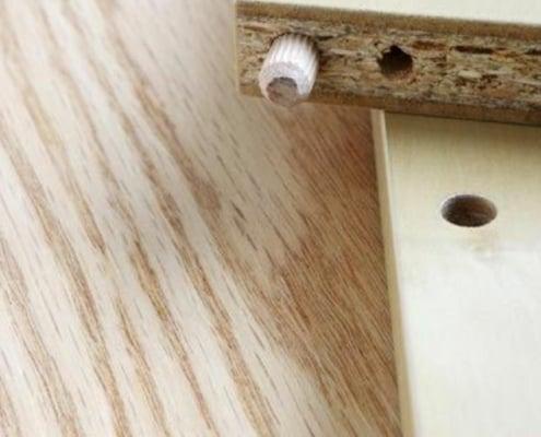 closeup image of particle board furniture