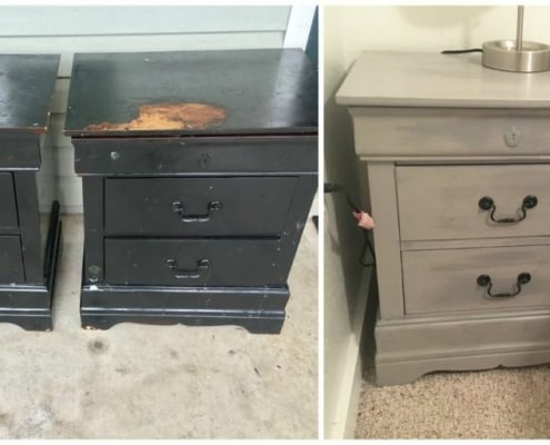 image of used quality end tables purchased and flipped into beautiful furniture