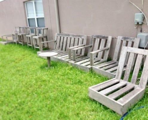 image of used teak, quality furniture set
