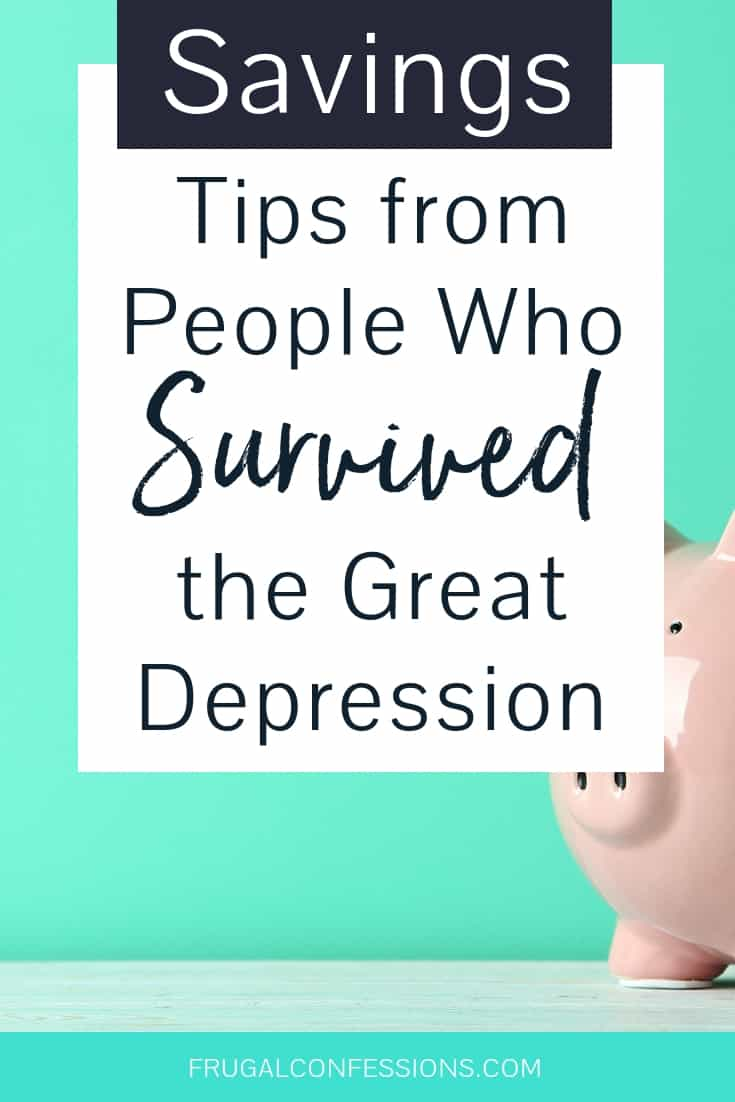 Sharing self sufficient living and money saving tips is how people survived the Great Depression. People who grew up during the Great Depression truly know frugal living. And while their stories are often somewhat severe, we can all learn much from the way they saved money in their daily lives. #savemoney #survival #skills