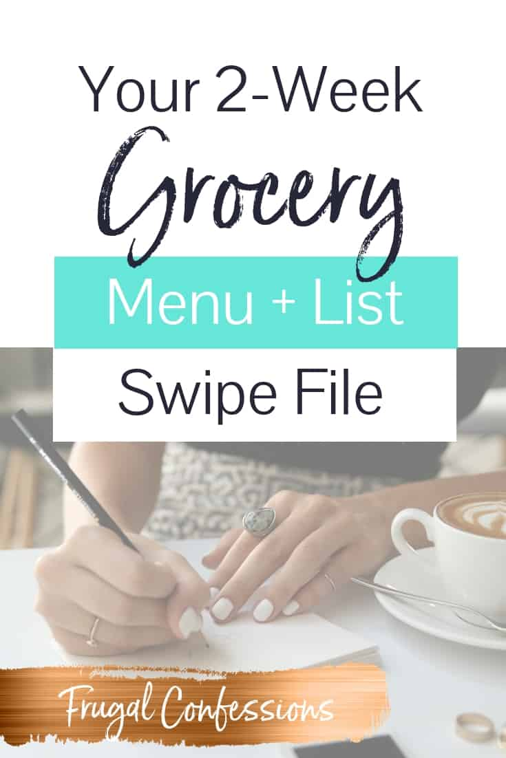 I need more time and money in our lives, and am excited to try out this grocery list for two weeks. The recipes look yummy! I've got just the grocery list printable for you! Plus learn my grocery shopping hacks and tips for how to make your groceries last the full two weeks. Great for if you're cheap grocery shopping on a budget.  #grocery #groceryshopping #savemoney