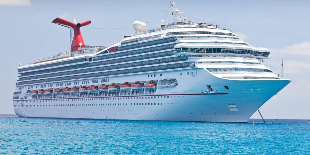 gorgeous cruise ship on Caribbean blue waters