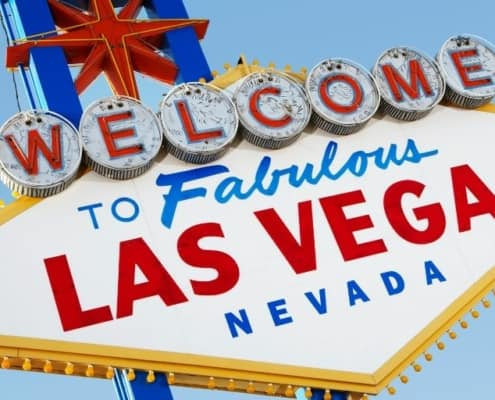 """""""welcome to fabulous las vegas nevada"""" sign against blue sky"""