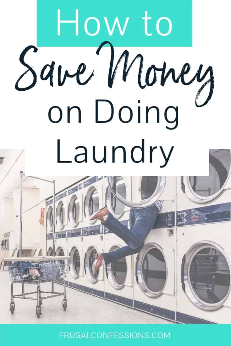 These laundry hacks to save money on laundry are awesome! I'm going to use a few of them in my routine, and I just LOVE her solution to not being able to hang a laundry line in the back yard (deed restriction) – awesome laundry garage ideas. #laundrytips #laundryroom #savemoney