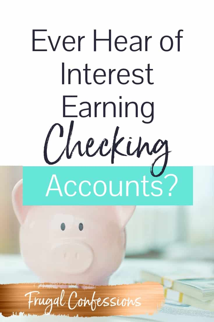 There is actually an interest bearing checking account? How did I NOT know this? The idea of receiving interest on money I am the temporary custodian for until I hand it over to its rightful owners—our mortgage company, our water company, Netflix, our cell phone companies, etc. — definitely intrigues me. #smartmoneytip #moneytips #moneyhacks #extracash #extraincome #interest