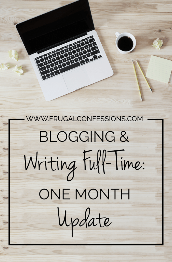 What is a weekend? For someone who has never worked before, or who works for themselves, it is simply two more days of the same thing. | https://www.frugalconfessions.com/writing-full-time/blogging-and-writing-full-time-one-month-update.php
