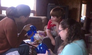financial lesson with niece and nephew