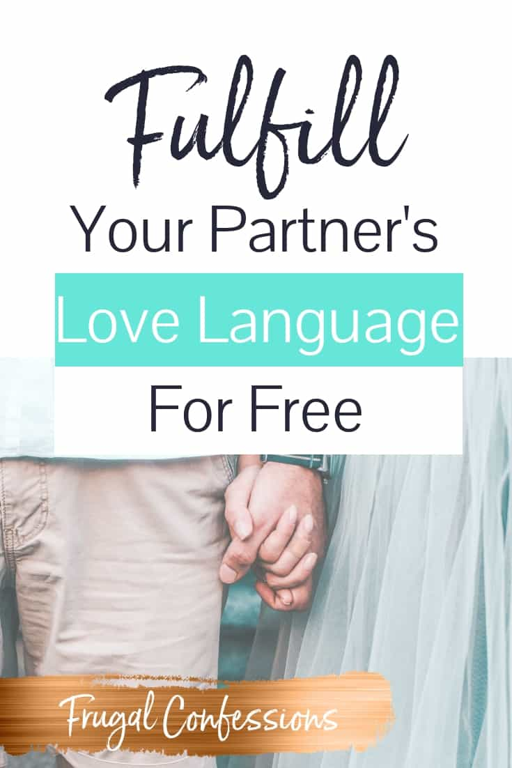 "A couple holding hands, she in a blue ballet skirt, with text overlay ""fulfill your partner's love language for free with love language list"""