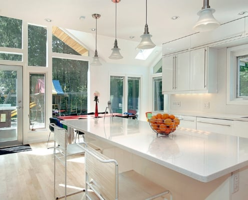 gorgeously renovated, white kitchen