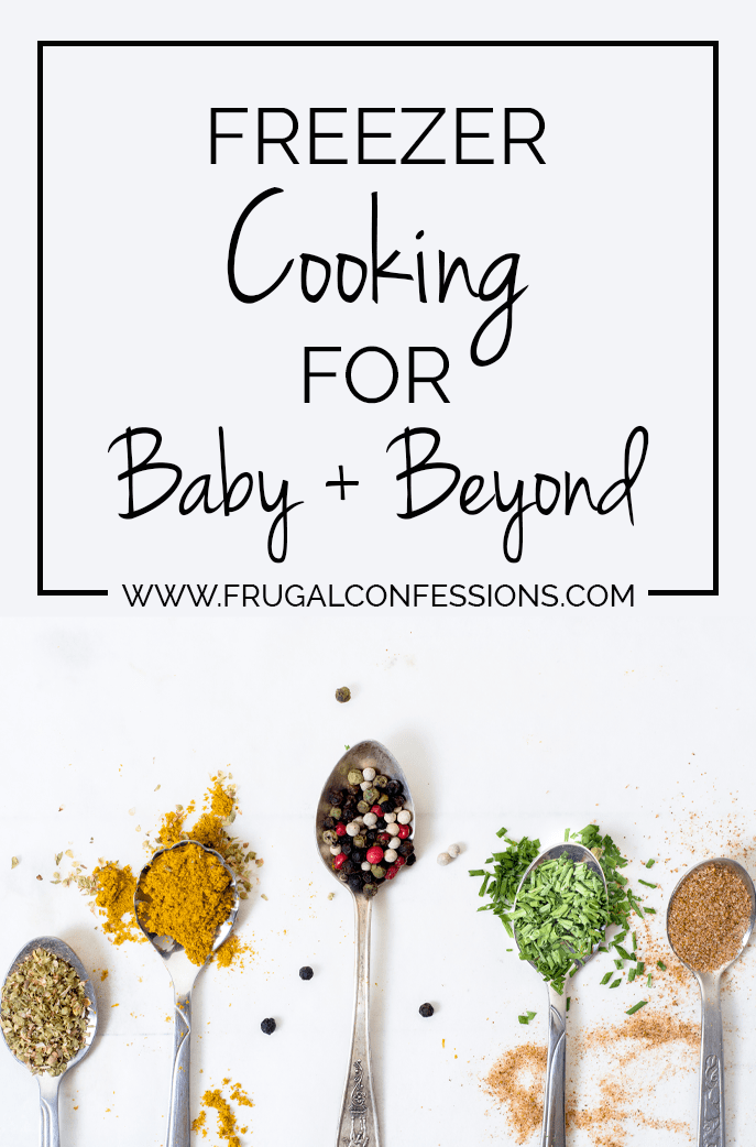 Last week (at 8 months, 25-odd days pregnant) it dawned on me that I needed a plan so that we don't end up zombie-calling the same three takeout places over the next few months. | https://www.frugalconfessions.com/save-me-money/my-freezer-cooking-day-for-baby-beyond.php