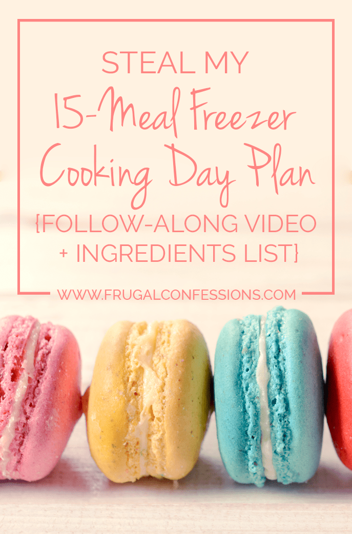 Don't have children? Mothers and Fathers are not the only ones who can reap the time and money rewards from conducting a freezer cooking day. | https://www.frugalconfessions.com/food/steal-15-meal-freezer-cooking-day-plan-follow-along-video-ingredients-list.php