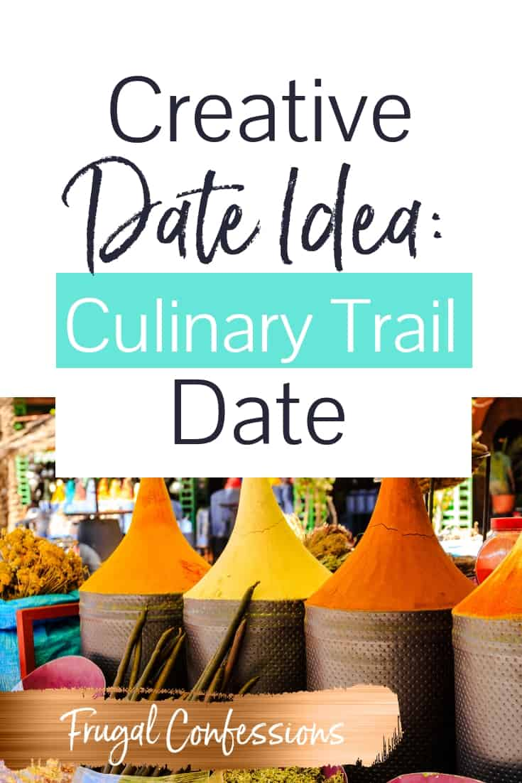 One of the most creative date ideas for married couples: set up a DIY culinary trail date! You can do it in any city/area where you live. I love this date night theme of traveling the world without needing a plane ticket. This is for couples + married couples (like us) who love connecting over new cultural experiences but traveling around the world isn't feasible right now! Helloooooo awesome married date night! | date night ideas | DIY date night #datenightideas #marriage #datenight