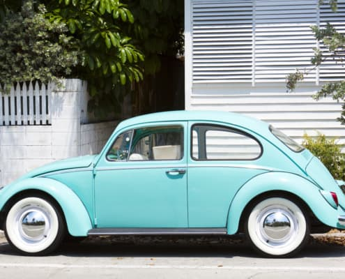 powder blue volkswagen bug