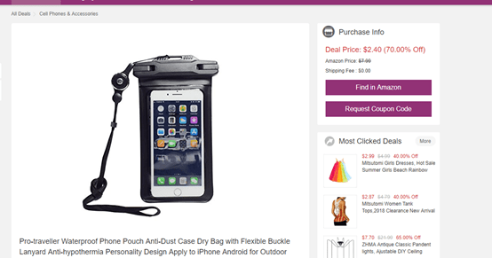 screenshot of android case for deal price of $2.40