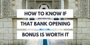 bank opening bonus