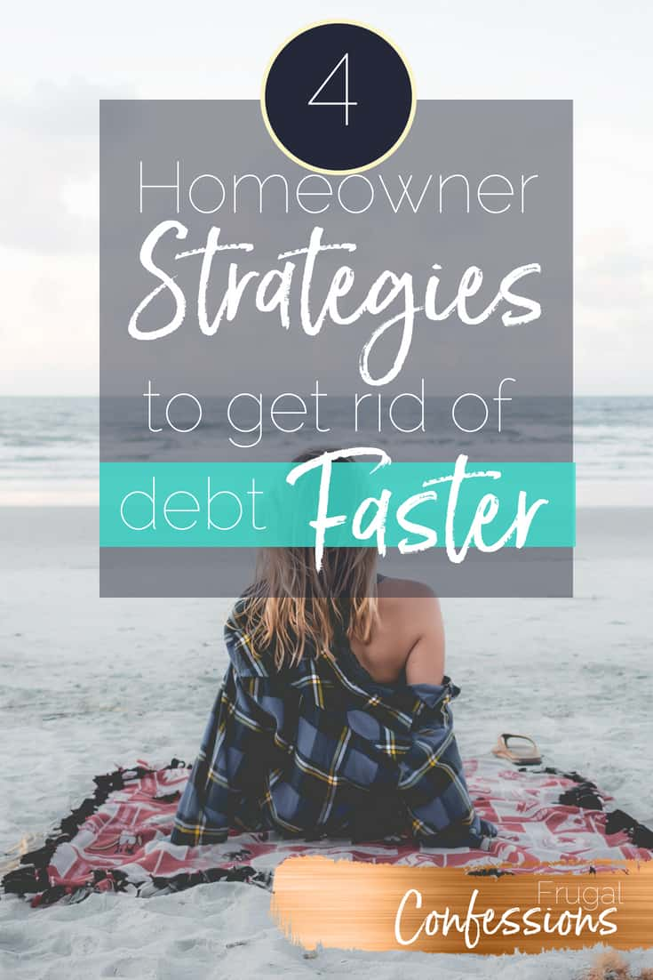 Are you a homeowner who also has high-interest debt (such as credit cards or student loans)? I've got 4 specific strategies you can take advantage of just because you own a home. #debtpayoff #debt #tips #personalfinance #howtopayoffdebt | https://www.frugalconfessions.com/debt/homeowners-can-manage-debt.php