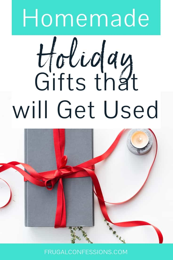 """I'm looking for useful homemade holiday gift ideas – and I just love her idea for what she calls """"legacy"""" gifts. I've never heard of those before! There are some great homemade Christmas gifts (the kind that won't collect dust on someone's shelf, because they'll actually use it), personal homemade gifts, and lots of creative ideas. #homemadegifts #christmasgifts #giftideas"""