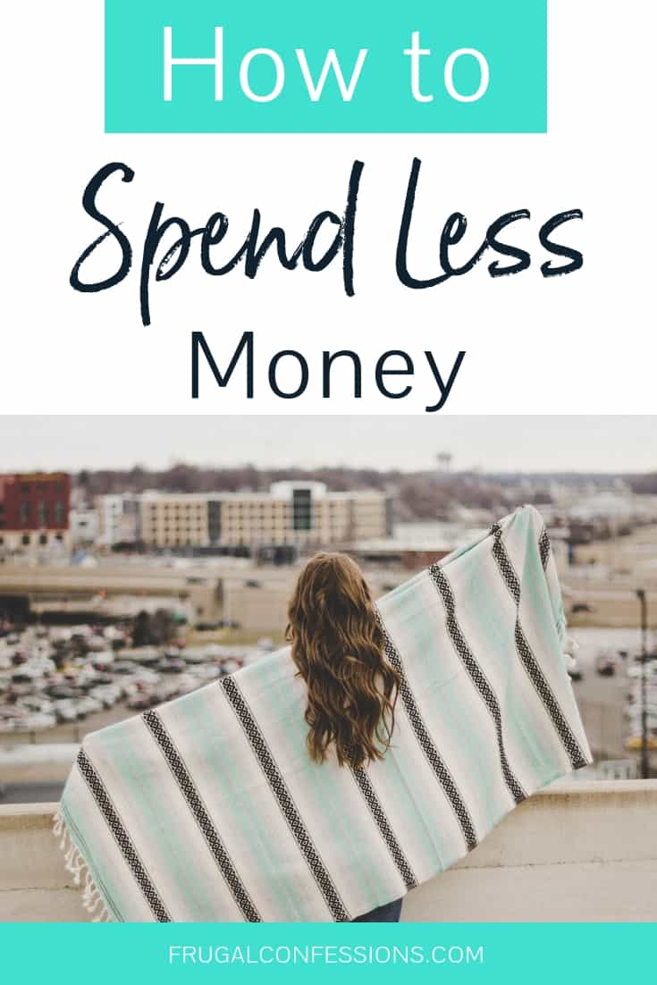 How to spend less money so that I can save lots more of my paycheck? I need an emergency fund, and I want to pay for things in cash instead of credit. But it's hard to stop shopping, or even to do healthy amounts of shopping when I'm so used to spending money. I love these tips on retraining yourself to stop spending so much money, stop falling for commons sales tactics, and to just stop spending so much money. #savemoney #savingsplan #savingschallenge