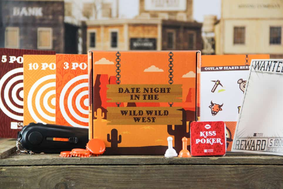image with a wild wild west date night box theme