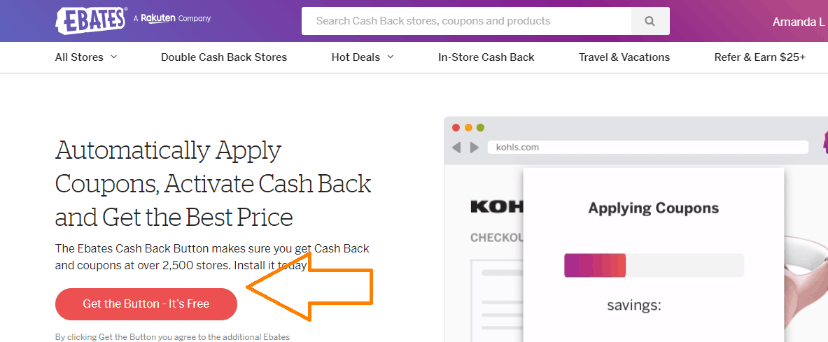 ebates button ways to earn extra cash