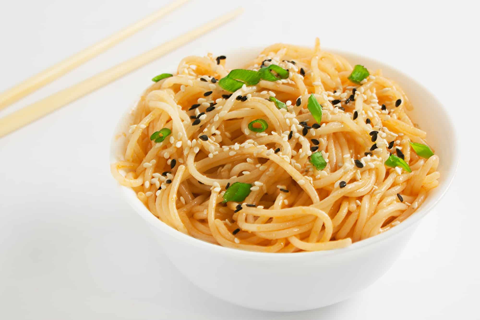 screenshot of non perishable meal idea - cold spicy peanut sesame noodles