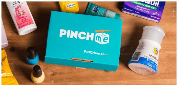 screenshot of pinchme free sample box free shipping no catch