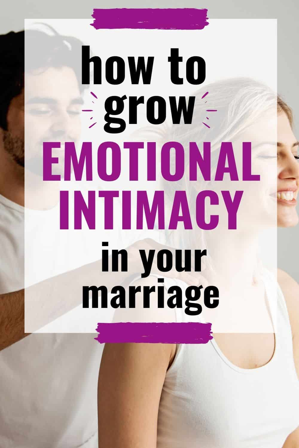 couple massaging each other, practicing how to grow in emotional intimacy in their marriage