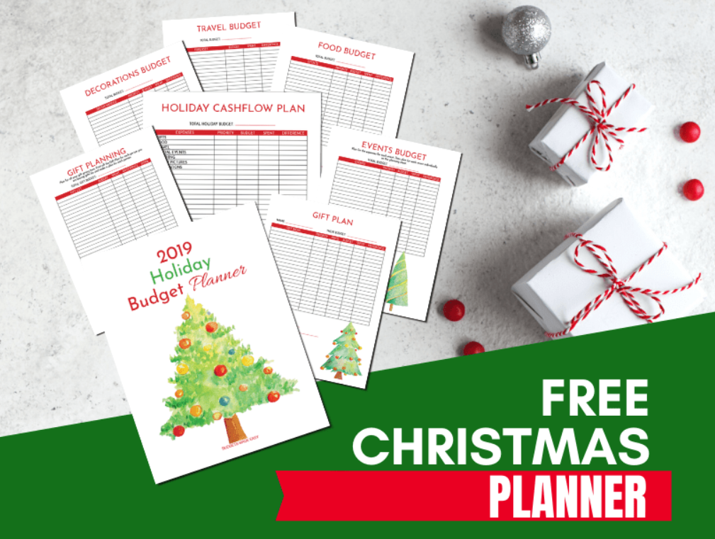 screenshot of Christmas budget planner printable worksheets from Budgets Made Easy