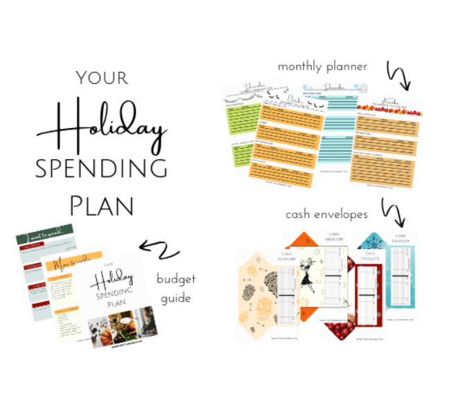 screenshot of Holiday budget planner from Money for the Mamas
