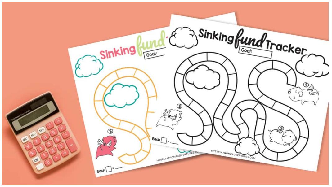 fun board game like sinking fund tracker